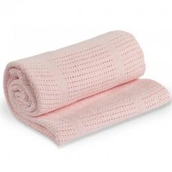 bébé tricot rose (80 x 100 cm)
